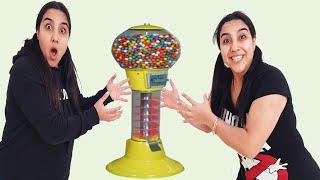 Oyuncak Şeker Makinesi ile Oynadı Seval  و توأمتها يريدوا نفس ماكينة الحلويات