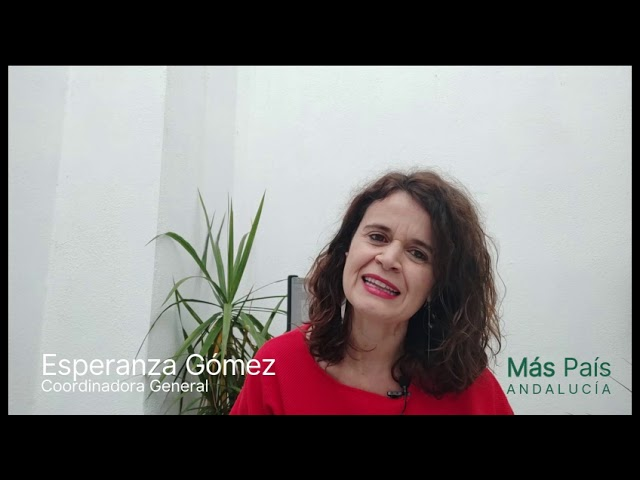 Esperanza Gómez (Más País Andalucía) muestra su apoyo en el III Congreso Nacional de AxSí