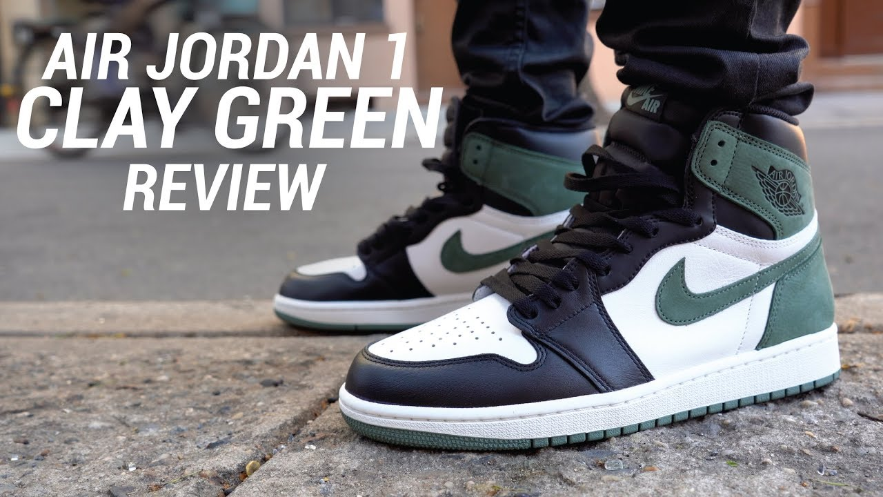 0bfb13bef56c8e AIR JORDAN 1 CLAY GREEN REVIEW - YouTube