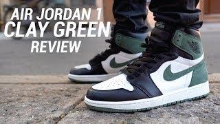 AIR JORDAN 1 CLAY GREEN REVIEW - YouTube