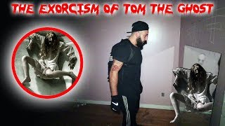 THE EXORCISM OF TOM THE GHOST // MOVING TOM TO A NEW HAUNTED HOUSE!   MOE SARGI