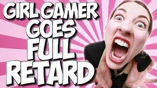 COD GHOSTS: GIRL GAMER GOES FULL RETARD!! EXTREMELY DUMB GIRL LOSES IT!!