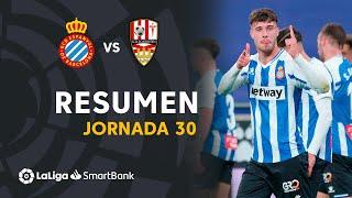 Resumen de RCD Espanyol vs UD Logroñés (4-0)