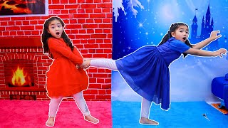 Annie Hot vs Cold Challenge with Suri | Kids Play in New Room Funny Videos for Children