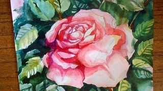 Как нарисовать розу. Акварель.(Это видео создано с помощью видеоредактора YouTube (http://www.youtube.com/editor), 2015-05-15T09:28:28.000Z)