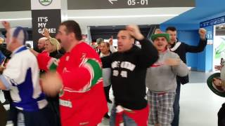 hungarian hockey fans in st petersburg 2016 after a lost game