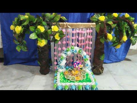 Laddu gopal janmashtami / ganpati utsav decoration idea