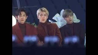 Download Video Chanyeol, Sehun & Kai reacting to Black Pink! MP3 3GP MP4