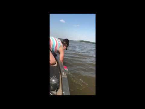 Catfishing with my wife on KAW lake
