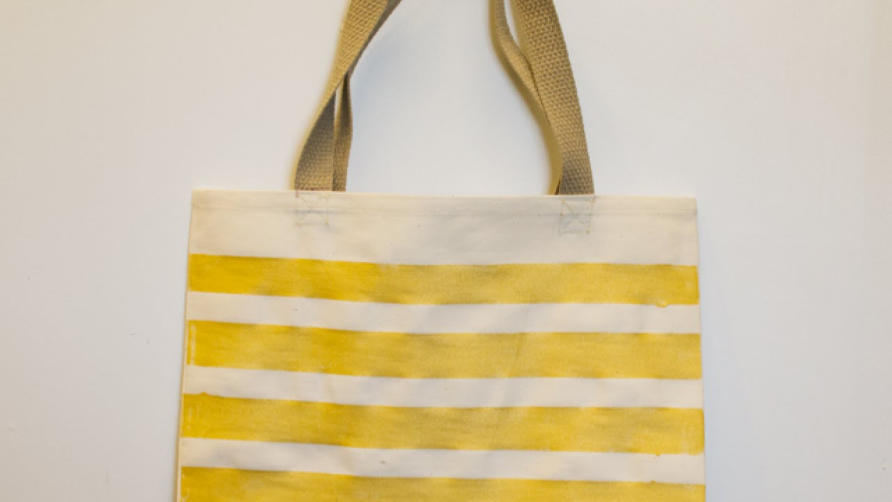 How To Create a Simple Painted Canvas Tote Bag - DIY Style Tutorial ...