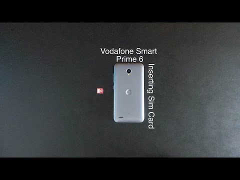 How to put sim card in Vodafone Smart Prime 6