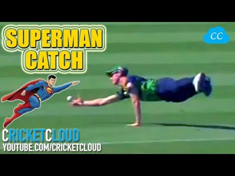 Best SUPERMAN CATCH Ever - But Batsman Looks Upset - Is It OUT ?