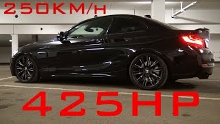 BMW M235i 425HP - 0-250 ACCELERATION Sound Onboard Autobahn