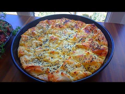 Börek  برك الجبنة بالصينية الفطور التركي المفضل برقائق اليوفكا