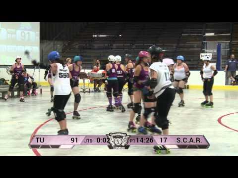 Mad Rollin' Dolls Team Unicorn vs. S.C.A.R. Dolls, St. Cloud Roller Derby -- First Half