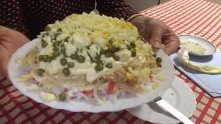 Салат «Дамский каприз» | С КРАБОВЫМИ ПАЛОЧКАМИ | Вкусный | Оригинальный | Лёгкий