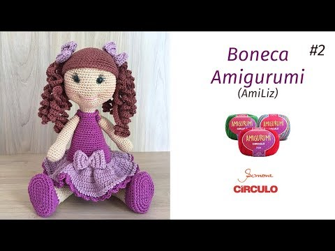 Boneca Amigurumi passo a passo Prof. Simone Eleotério Parte 2