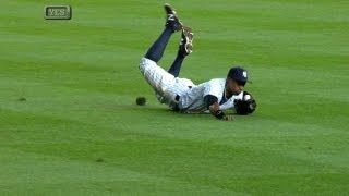 Granderson robs Joyce with great diving grab
