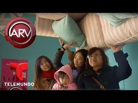 Una casa patas arriba sorprende a todos en Taiwán | Al Rojo Vivo | Telemundo