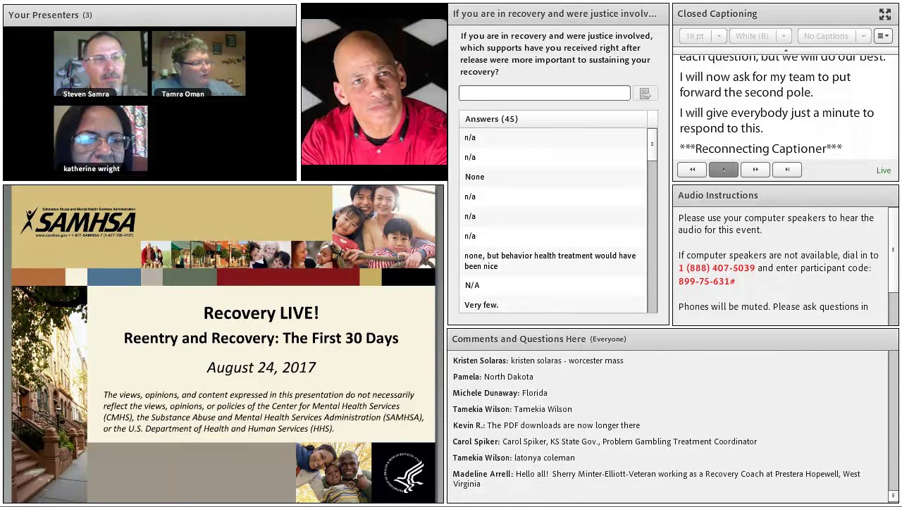 Reentry and Recovery – The First 30 Days (August 2017)