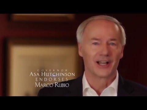 Arkansas Governor Asa Hutchinson Endorses Marco Rubio | Marco Rubio for President