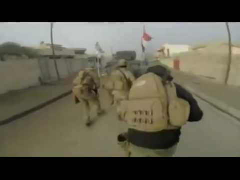 Iraq War 2017 - Helmet Cam Of Iraqi Special Forces Advance On ISIS Positions In Mosul