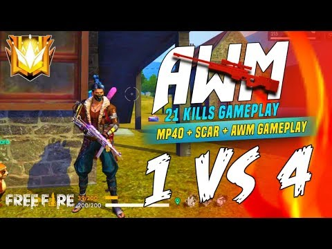 AWM Sniping 21 Kills In Solo Vs Squad - Garena Free Fire- Total Gaming