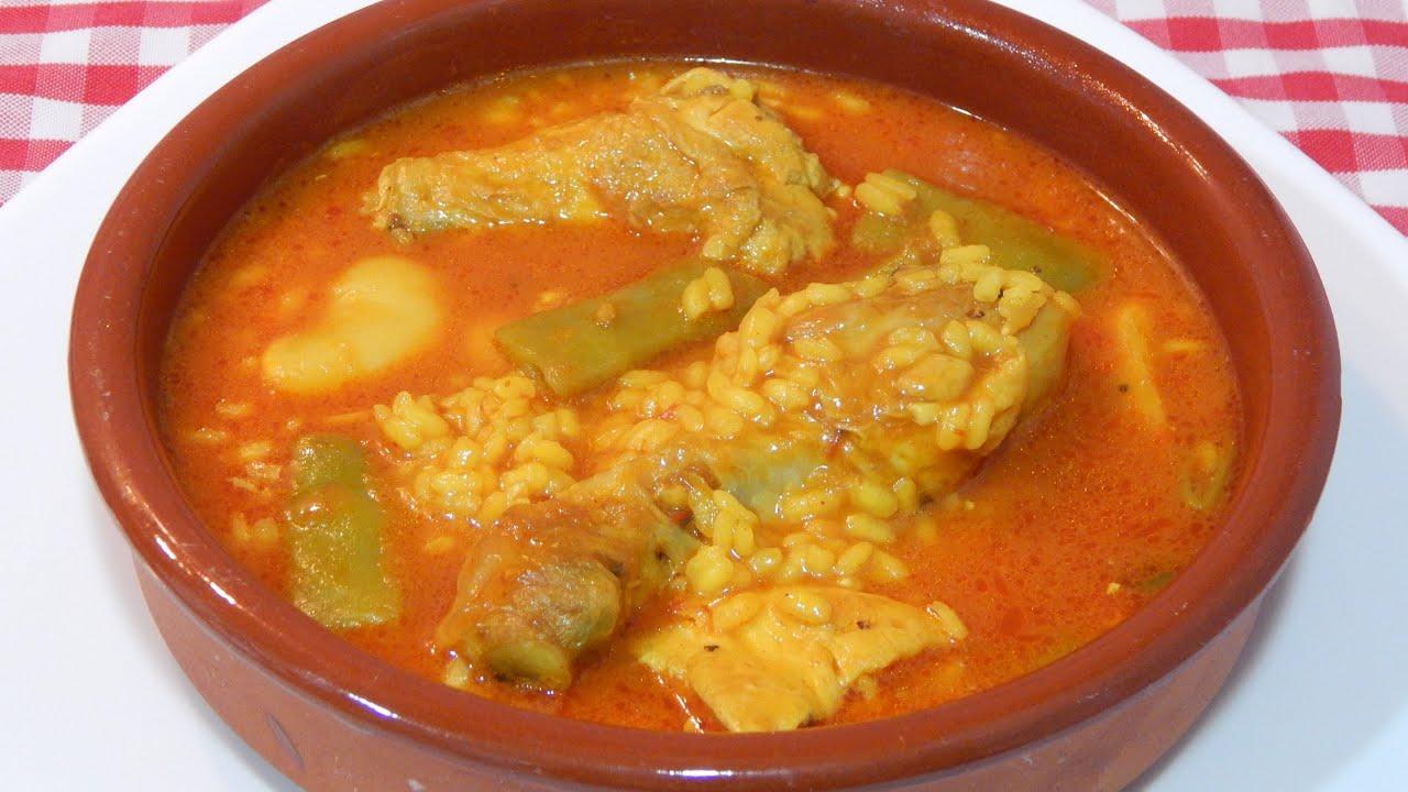preparar arroz caldoso scam pollo