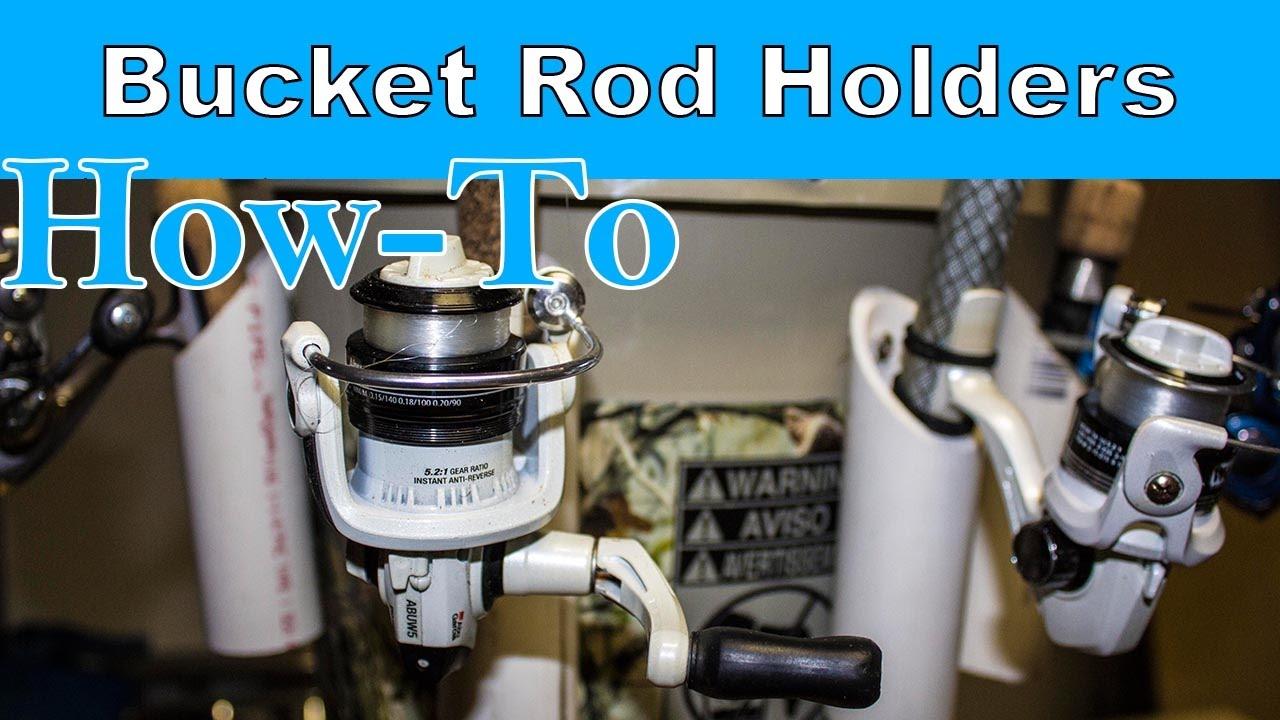 Custom Ice Fishing Bucket How To Make Rod Holders Bad Poncho Outdoors You