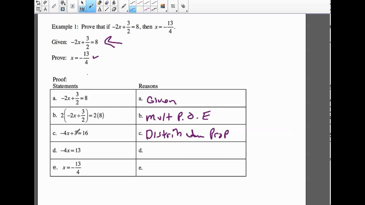 Geometry Chapt 2 5 Algebraic Proofs Two Examples