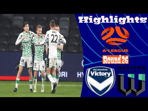 Melbourne Victory Western United Goals And Highlights