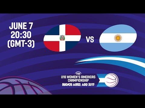 Dominican Republic vs Argentina - Group A - FIBA U16 Women's Americas Championship