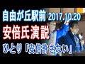 【日本の政経】自由が丘駅前が安倍支持派で溢れる中孤独なパヨクが・・・。民進党さ…