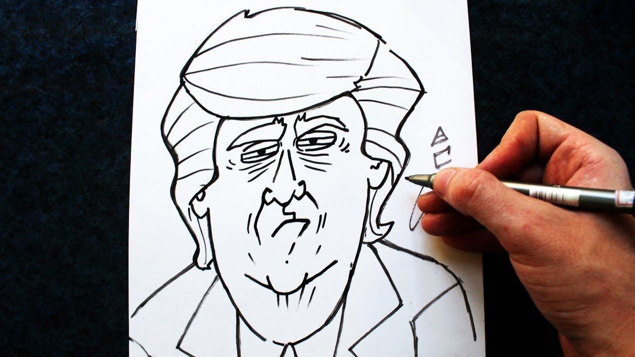 Como Desenhar O Donald Trump Cartoon How To Draw Donald Trump