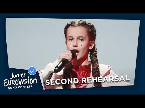 Darina Krasnovetska - Say Love - Second Rehearsal - Ukraine 🇺🇦 - Junior Eurovision 2018