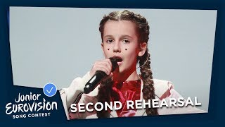 Darina Krasnovetska - Say Love - Second Rehearsal - Ukraine ???????? - Junior Eurovision 2018