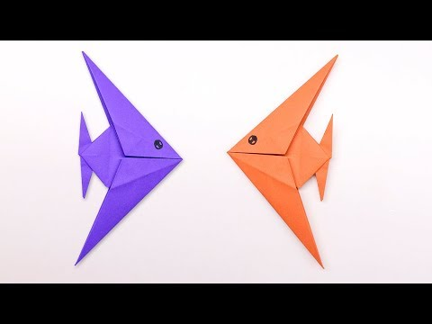 Easy Origami Fish - How To Make Fish Step By Step