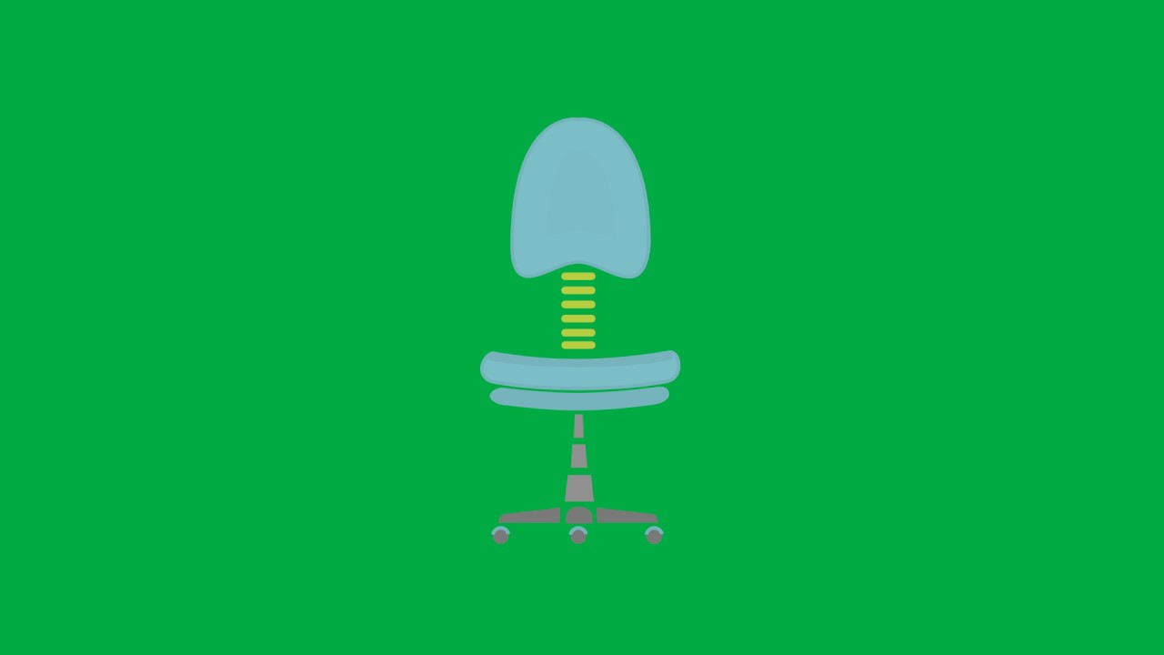 Computer Chair Green Screen Animated