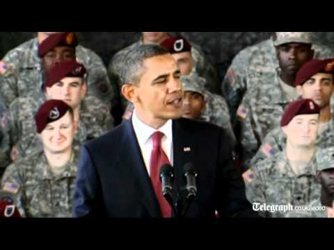 President Obama welcomes home troops to mark end of Iraq war