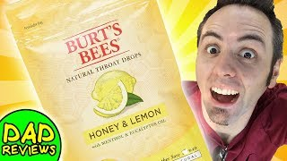 BEST COUGH DROPS | Burt's Bees Natural Throat Drops - Honey & Lemon Taste Test & Review