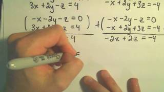 Solving a Dependent System of Linear Equations involving 3 Variables