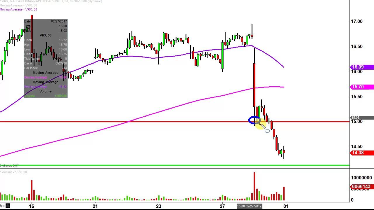 Valeant pharmaceuticals international inc vrx stock chart technical analysis for also rh youtube