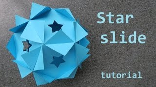 star slide - sliceform - papercraft - tutorial - dutchpapergirl