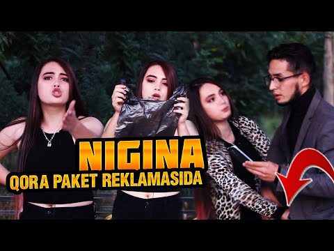 KATTA JANJAL! Nigina (niginaa1__) Tik Toker Qora Paket Reklamasida. Nimalar Qildi!