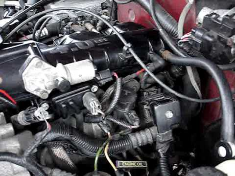 99 ford explorer 4 0l ohv engine vacuum leak rh youtube com