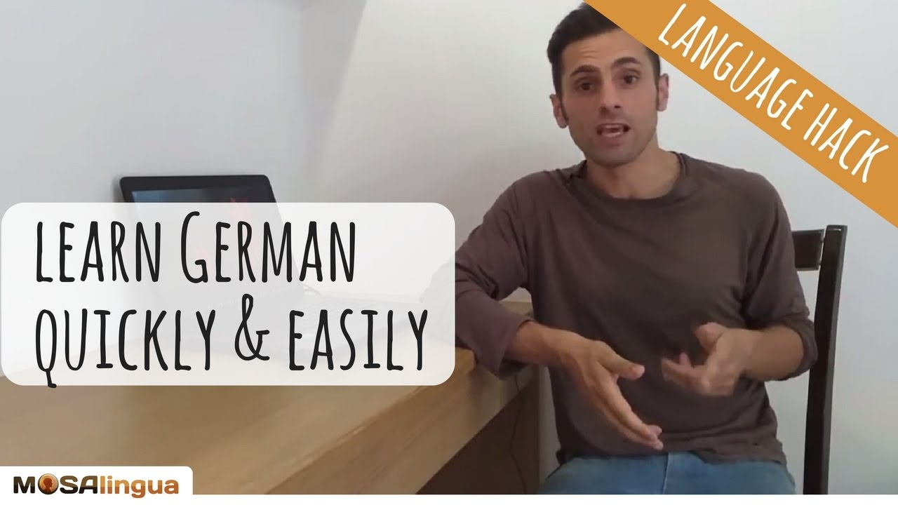 How to learn german speaking easily irritated