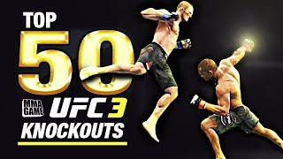 EA SPORTS UFC 3 - TOP 50 UFC 3 KNOCKOUTS - Community KO Video ep. 2