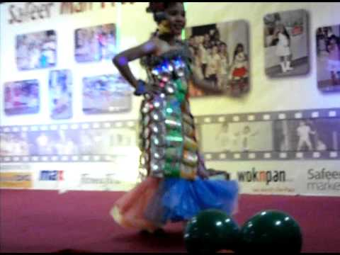 Sheena Mae Ann Celis in her recycled gown.AVI