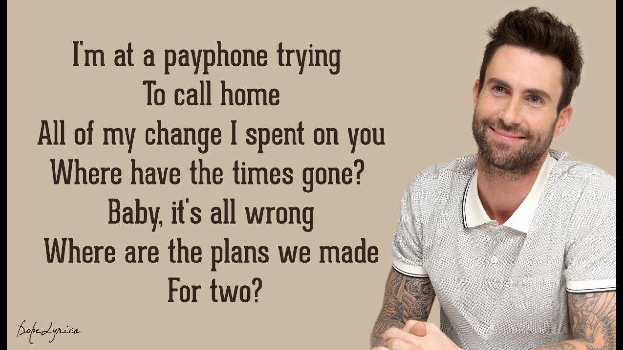 Payphone Maroon 5 Ft Wiz Khalifa Lyrics