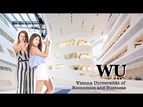 超摩登的歐洲校園! 維也納經濟大學 Campus tour in Vienna|Jasmine ft. Natalie
